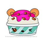 How to Draw Razzy Froyo from Num Noms