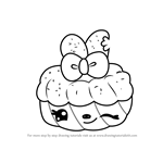 How to Draw Sophia Strawberry from Num Noms