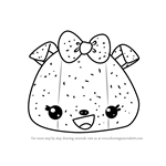 How to Draw Sparkle Mellie from Num Noms
