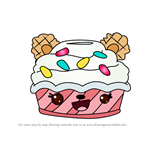 How to Draw Sprinkles Froyo from Num Noms