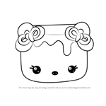 How to Draw Strawberry Mallow from Num Noms