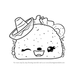 How to Draw Tasty Taco from Num Noms