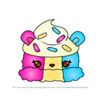 How to Draw Trio Scoop from Num Noms