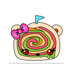 How to Draw Wanda Wrap from Num Noms