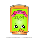 How to Draw Bart Beans from Shopkins