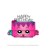 How to Draw Birthday Betty from Shopkins