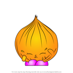 How to Draw Boo-Hoo Onion from Shopkins