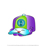 How to Draw Casper Cap from Shopkins