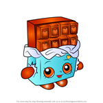How to Draw Cheeky Chocolate from Shopkins