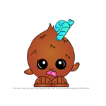 How to Draw Coco Nutty from Shopkins