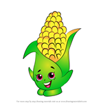 How to Draw Corny Cob from Shopkins