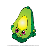 How to Draw Dippy Avocado from Shopkins