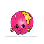 How to Draw Donna Donut from Shopkins