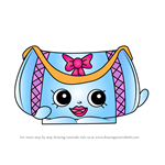 How to Draw Duffa from Shopkins