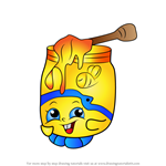 How to Draw Honeeey from Shopkins