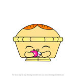 How to Draw Hot Apple Pie from Shopkins