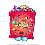 How to Draw Jelly B from Shopkins