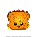 How to Draw Lana Banana Bread from Shopkins