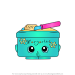 How to Draw Margarina from Shopkins