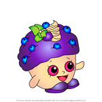 How to Draw Mini Muffin from Shopkins