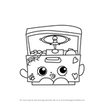 How to Draw Music Box from Shopkins
