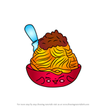 How to Draw Netti Spaghetti from Shopkins