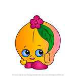 How to Draw Peachy from Shopkins