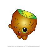 How to Draw Pee Wee Kiwi from Shopkins