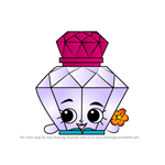 How to Draw Polly Perfume from Shopkins