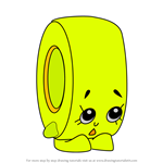 How to Draw Rolla Tape from Shopkins