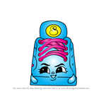 How to Draw Sneaky Sue from Shopkins