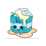 How to Draw Spilt Milk from Shopkins
