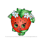 How to Draw Strawberry Kiss from Shopkins