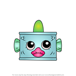 How to Draw Tin'a'Tuna from Shopkins