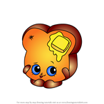 How to Draw Toastie Bread from Shopkins