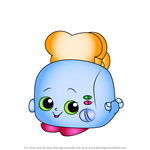How to Draw Toasty Pop from Shopkins