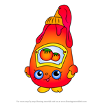 How to Draw Tommy Ketchup from Shopkins