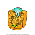 How to Draw Waffle Sue from Shopkins