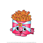 How to Draw Wise Fry from Shopkins
