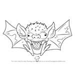 How to Draw Bogus Bat from The Ugglys Pet Shop