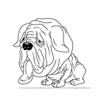 How to Draw Maggoty Mastiff from The Ugglys Pet Shop