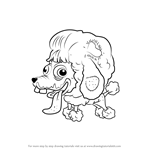 How to Draw Poo Poodle from The Ugglys Pet Shop