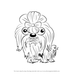 How to Draw Smelly Shihtzu from The Ugglys Pet Shop
