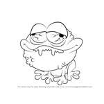 How to Draw Toadkill from The Ugglys Pet Shop