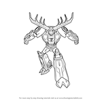 How to Draw Thunderhoof from Transformers