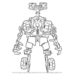 How to Draw Wheelie from Transformers