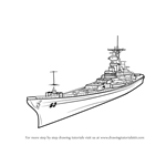 How to Draw USS Missouri aka Big Mo