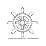How to Draw a Boat Wheel