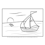 How to Draw a Sailboat on Water