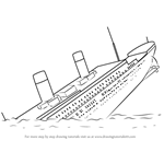 How to Draw Titanic Sinking